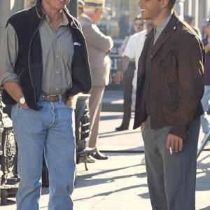 Director Robert Redford with Matt Damon