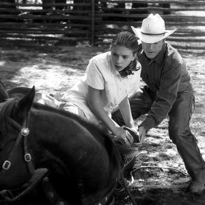 Still of Robert Redford and Scarlett Johansson in The Horse Whisperer (1998)
