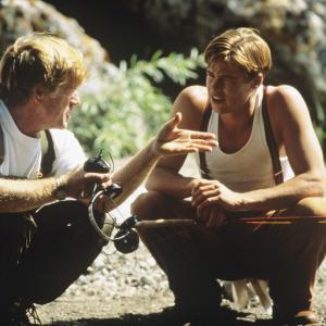 Still of Brad Pitt and Robert Redford in A River Runs Through It (1992)
