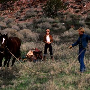 Still of Jane Fonda, Robert Redford and Sydney Pollack in The Electric Horseman (1979)