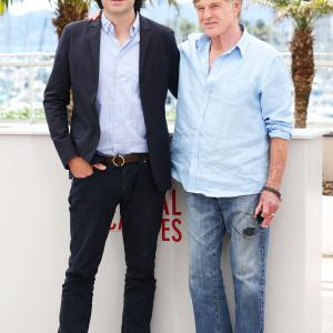 Robert Redford and J.C. Chandor at event of All Is Lost (2013)