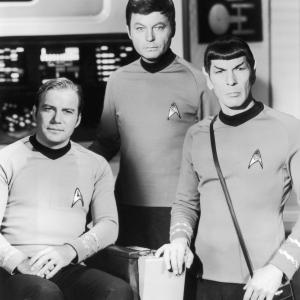 Leonard Nimoy, William Shatner, DeForest Kelley