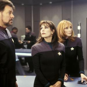 Still of Jonathan Frakes Gates McFadden and Marina Sirtis in Star Trek Nemesis 2002