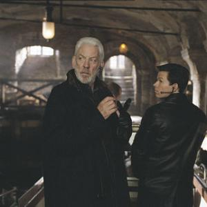 Still of Mark Wahlberg and Donald Sutherland in The Italian Job 2003