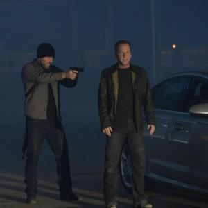 Still of Kiefer Sutherland and Aksel Hennie in 24: Live Another Day (2014)