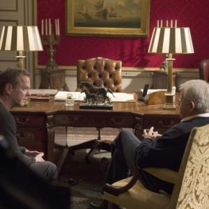 Still of Kiefer Sutherland and William Devane in 24: Live Another Day (2014)