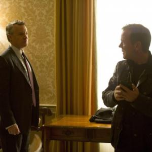 Still of Kiefer Sutherland and Tate Donovan in 24: Live Another Day (2014)