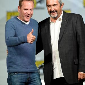 Kiefer Sutherland and Jon Cassar at event of 24: Live Another Day (2014)