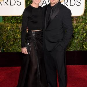 Robin Wright and Ben Foster at event of 72nd Golden Globe Awards (2015)