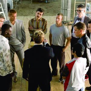 Still of Brad Pitt, George Clooney, Matt Damon, Casey Affleck, Elliott Gould and Scott Caan in Ocean's Twelve (2004)