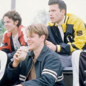 Still of Ben Affleck, Matt Damon and Casey Affleck in Gerasis Vilas Hantingas (1997)