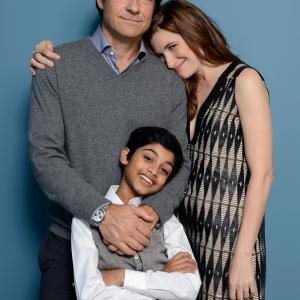 Jason Bateman Kathryn Hahn and Rohan Chand at event of Bad Words 2013