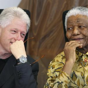 Bill Clinton, Nelson Mandela