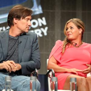Nicole Eggert and Kevin Sorbo at event of Heartbreakers (2014)