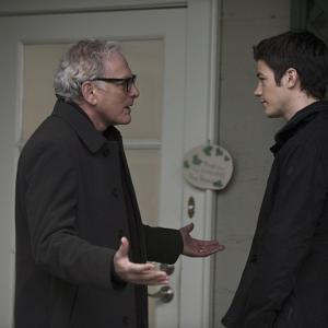 Still of Victor Garber and Grant Gustin in The Flash (2014)