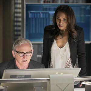 Still of Victor Garber and Candice Patton in The Flash (2014)