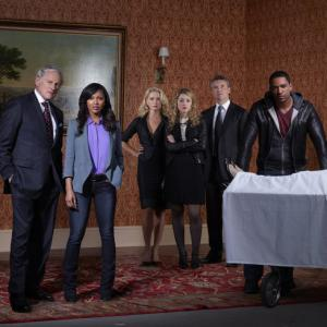 Still of Victor Garber, Tate Donovan, Laz Alonso, Meagan Good and Sofia Bowers in Deception (2013)