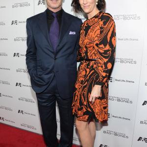 Pierce Brosnan and Annabeth Gish at event of Bag of Bones 2011