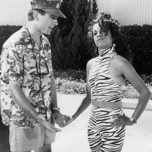 Still of Mark Harmon and Kelly Jo Minter in Summer School 1987
