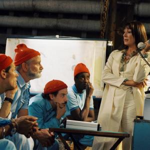 Still of Bill Murray Willem Dafoe Anjelica Huston Noah Taylor Seu Jorge and Waris Ahluwalia in The Life Aquatic with Steve Zissou 2004