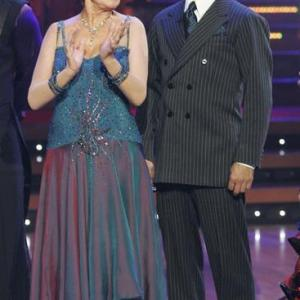 Cloris Leachman and Corky Ballas in Dancing with the Stars 2005