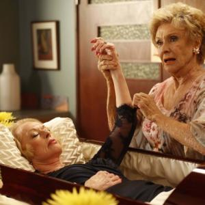 Still of Tippi Hedren, Cloris Leachman and Greg Gayne in Mazyle Houp (2010)