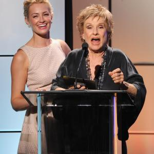 Cloris Leachman and Beth Behrs