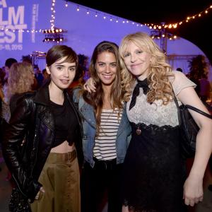 Courtney Love, Lily Collins, Lorenza Izzo