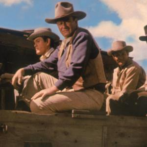 Still of John Wayne and Dean Martin in The Sons of Katie Elder 1965