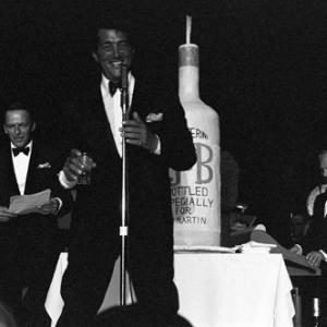 Joey Bishop, Frank Sinatra and Dean Martin performing at the Sands Hotel in Las Vegas
