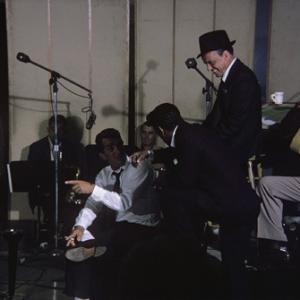 Sammy Cahn, Dean Martin, Sammy Davis Jr. and Frank Sinatra