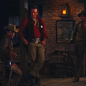 Still of John Wayne, Dean Martin and Ricky Nelson in Rio Bravo (1959)
