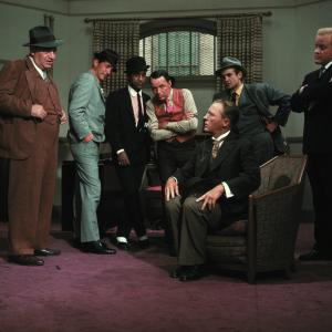 Still of Frank Sinatra, Bing Crosby, Dean Martin and Sammy Davis Jr. in Robin and the 7 Hoods (1964)