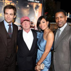 Denzel Washington, Tony Scott, Rosario Dawson, Chris Pine