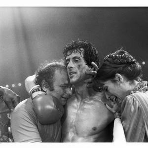 Sylvester Stallone Talia Shire and Burt Young in Rocky III 1982