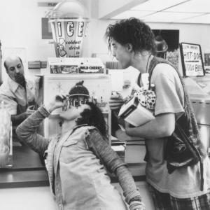 Still of Brendan Fraser and Pauly Shore in Encino Man 1992