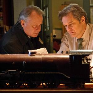 Still of Colin Firth and Stellan Skarsgård in The Railway Man (2013)