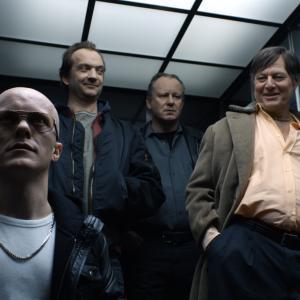 Still of Stellan Skarsgård, Gard B. Eidsvold and Bjørn Floberg in En ganske snill mann (2010)