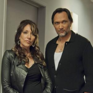 Still of Jimmy Smits and Katey Sagal in Sons of Anarchy (2008)