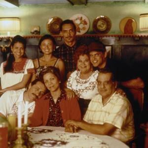 Still of Edward James Olmos and Jimmy Smits in My Family (1995)