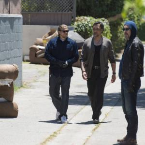 Still of Jimmy Smits, Juan Carlos, Tommy Flanagan, Charlie Hunnam and Theo Rossi in Sons of Anarchy (2008)