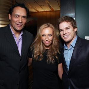Toni Collette, Jimmy Smits and Michael C. Hall at event of The 61st Primetime Emmy Awards (2009)