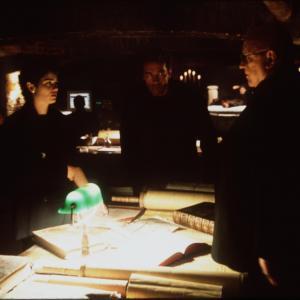 Still of Arnold Schwarzenegger, Robin Tunney and Rod Steiger in End of Days (1999)