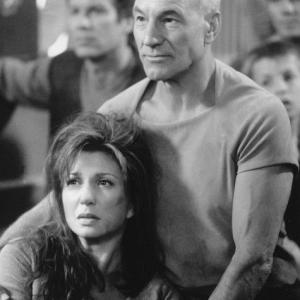 Still of Patrick Stewart and Donna Murphy in Star Trek Insurrection 1998