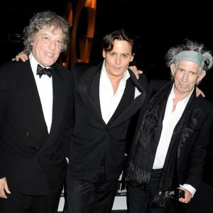 Johnny Depp Tom Stoppard and Keith Richards