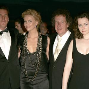 Charlize Theron Geoffrey Rush Emily Watson and Stephen Hopkins at event of The Life and Death of Peter Sellers 2004