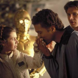 Harrison Ford, Carrie Fisher, Billy Dee Williams