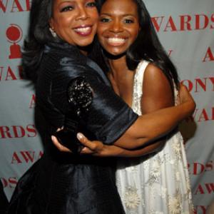 Oprah Winfrey and LaChanze