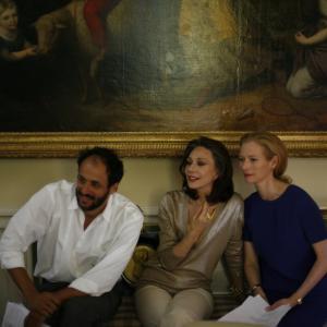 Still of Marisa Berenson, Luca Guadagnino and Tilda Swinton in Io sono l'amore (2009)