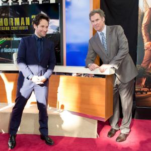 Will Ferrell and Paul Rudd at event of Anchorman 2 The Legend Continues 2013